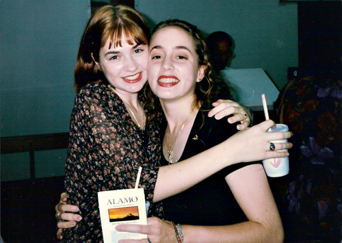 This pic was taken after her uncle's funeral in either 1994 or '95.  We stopped at a daiquiri shop on the way to the airport- because that's what you do!